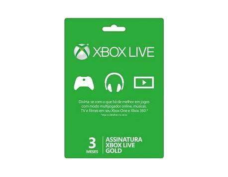 XBOX LIVE CARTÃO DE ADESÃO GOLD 3 MESES