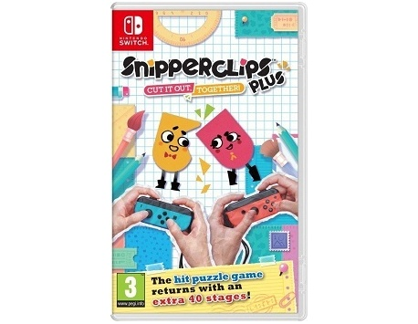 SNIPPERCLIPS PLUS CUT IT OUT TOGHETHER NINTENDO SWITCH