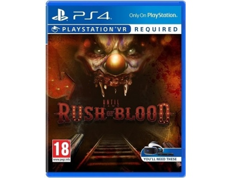 UNTIL DAWN RUSH OF BLOOD PS4 (REQUER PS VR) (USADO)