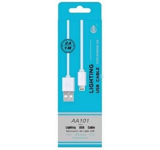 CABO USB/IPHONE 2A 1M 5/6/7/8/X 2.0 BRANCO