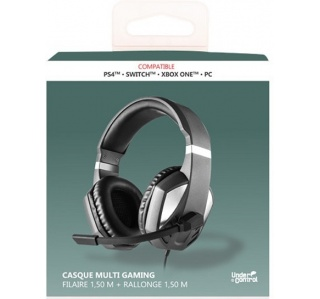 HEADSET UNDER CONTROL C/FIO 1,5M PS4/XBOX ONE/ SWITCH/PC