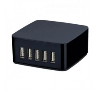 CARREGADOR 5XUSB 5V 7.8A COLLBOX PRETO