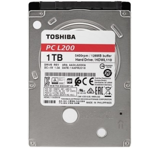 DISCO RÍGIDO TOSHIBA L200 2.5 1TB 5400RPM 128MB