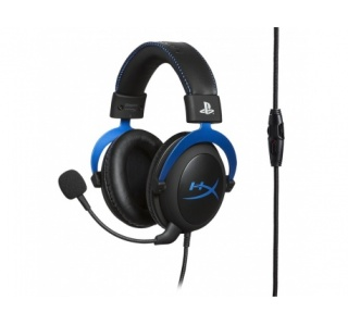 HEADSET HYPERX CLOUD GAMING PRETO - AZUL PS4