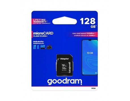 CARTÃO DE MEMORIA GOODRAM MICRO SDHC 128GB CLASS 10 UHS-I + ADAPTADOR SD
