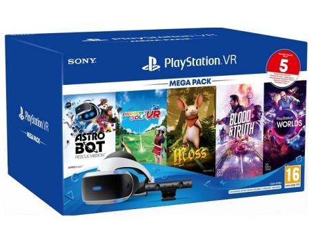 PLAYSTATION VR PS4 + CAMERA +MEGA PACK II