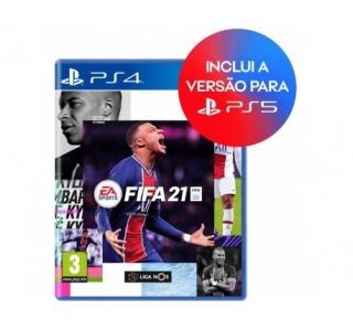 FIFA 21 PS4/PS5 (TEXTOS INGLÊS) - Upgrade Gratuito
