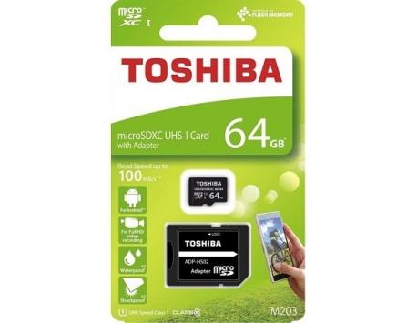 CARTÃO DE MEMORIA TOSHIBA MICRO SDXC 64GB M203 UHS-I CLASS10 100MB/S