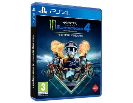 MONSTER ENERGY SUPERCROSS 4  THE OFFICIAL VIDEOGAME PS4