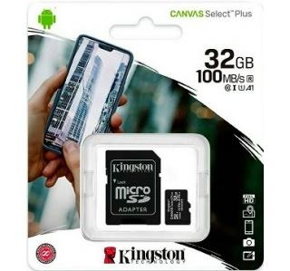 CARTÃO DE MEMORIA KINGSTON CANVAS SELECT PLUS MICRO SDHC  UHS-I 32GB CLASS10